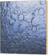 Water Abstraction - Blue Wood Print