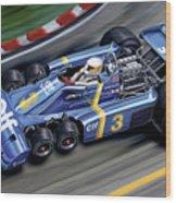 6 Wheel Tyrrell P34 F-1 Car Wood Print