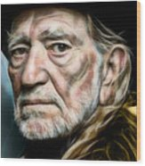 Willie Nelson Collection Wood Print