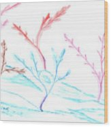6 Winter Trees Wood Print