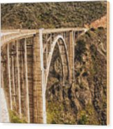 605 Det  Big Sur Bridge 2 Wood Print