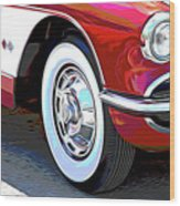 61 Corvette Wood Print