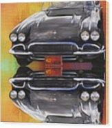 62 Corvette Wood Print