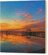 Nature Oil Canvas Landscape Wood Print