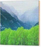 Nature Work Landscape Wood Print