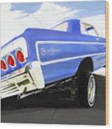 64 Impala Lowrider Wood Print