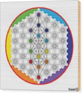 64 Tetra Chakra Activation Grid Wood Print