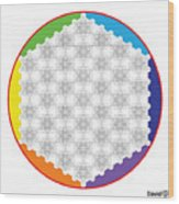 64 Tetra Flower Of Life Wood Print