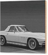 65 Corvette Roadster Wood Print by Bill Dutting