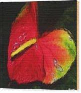 6.5 Heart   Artwork In Poster Wood Print