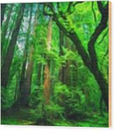 Nature Landscape Light Wood Print