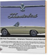 '66 Thunderbird Convertible Wood Print
