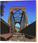 6696 Railroad Bridge Wood Print