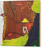 67 Wood Print