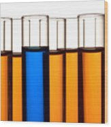 Test Tubes In Science Research Lab Wood Print