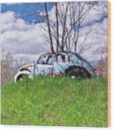 67 Volkswagen Beetle Wood Print