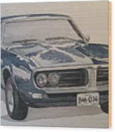 68 Firebird Sprint Wood Print