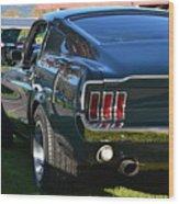 67 Mustang Fastback Wood Print