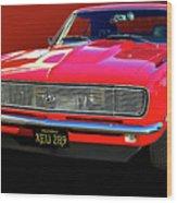 68 Ss Camaro Wood Print by Bill Dutting
