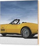 '69 Corvette Sting Ray Wood Print
