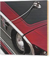 69 Mustang Hood Pin And Grille Wood Print
