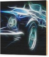69 Mustang Mach 1 Fantasy Car Wood Print