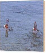 69- Paddle Boarders Wood Print