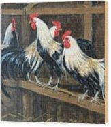 #69 - Roosters Wood Print