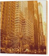 6th Avenue In Mahattan Wood Print