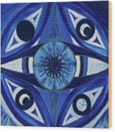 6th Mandala - Third Eye Chakra  Wood Print