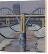 6th Street Bridge Wood Print