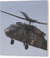 A Uh-60 Blackhawk Medivac Helicopter Wood Print