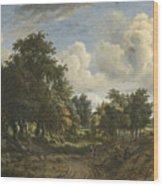 A Wooded Landscape Wood Print