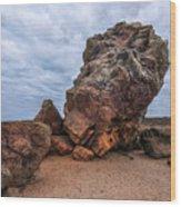 Agglestone Rock - England Wood Print