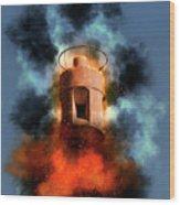 Air Raid Siren Wood Print