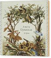 American Christmas Card Wood Print