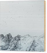 Arctic Landscape In Northern Norway, Tromso Region Wood Print