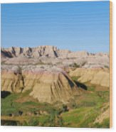 Badlands National Park South Dakota Wood Print