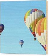 7 Balloons Wood Print