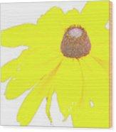 Blackeyed Susan Flower Wood Print