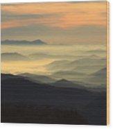 Blue Ridge Wood Print
