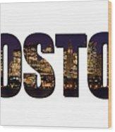 Boston Massachusetts Wood Print