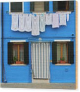 Burano Anisland Of Multi Colored Homes On Canals North Of Venice Italy Wood Print