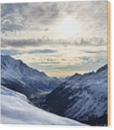 Chamonix Resort In The French Alps Wood Print