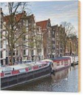 Channels Of Amsterdam Wood Print