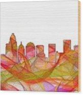 Charlotte Nc Skyline Skyline Wood Print
