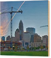 Charlotte North Carolina Early  Morning Sunrise Wood Print