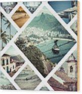 Collage Of Rio De Janeiro Wood Print