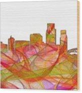 Corpus Christi Texas Skyline Wood Print