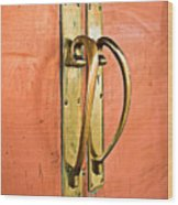 Door Handle Wood Print